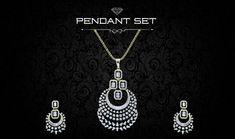 Gold Jewellery Design, Diamond Jewellery, Gold Jewelry, Jewelery, Pendant Set, Diamond Pendant, Art Deco Jewelry, Jewelry Sets, International Jewelry