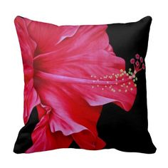 Red Hibiscus Pillows