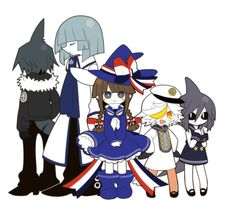Meet the Gang! (From left to right) Samekichi, Fukami, Wadanohara, Memoca and Dolphi