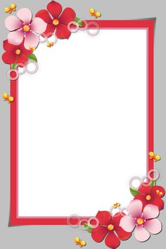 Frame Border Design, Boarder Designs, Page Borders Design, Photo Frame Design, School Picture Frames, School Frame, Flower Frame, Flower Art, Flower Background Design
