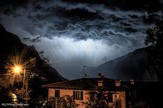 Nice clouds above Torbole (Lake Garda) on June 24, 2014