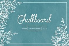 Chalkboard Pattern Mix Papers by Feather & Sage Design on @creativemarket