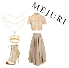 """""""Mejuri"""" by mr-ibis ❤ liked on Polyvore featuring self-portrait, TIBI, Gianvito Rossi, contestentry and jenchaexmejuri"""