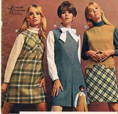 Retro Fashion Sears catalog Cay Sanderson, Colleen corby and Kathy Jackson. 60s And 70s Fashion, Vintage Fashion, 1960s Fashion Hippie, Hippies 1960s, Outfit Vintage, Mode Dope, Colleen Corby, Moda Retro, Outfit Essentials