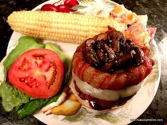 Bacon Ring Burger, wood pellet, grill, BBQ, smoker, burger, recipe