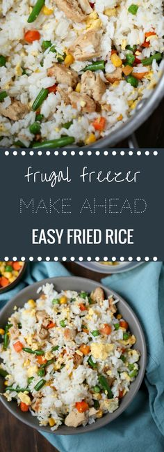 Easy Make Ahead Freezer Friendly Fried Rice Recipe! via @HappyMoneySaver