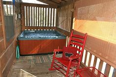 A Dollar And A Dream in Gatlinburg, Tennessee: Hot Tub on the Porch w/screens for privacy