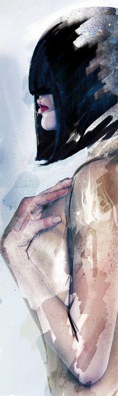 Aquar'elle by Adrien DONOT, via Behance. BEAUTIFUL!!!!!!!!