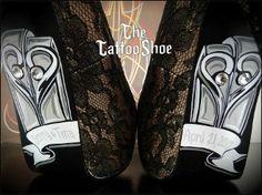 Bridal Custom Heels by The Tattoo Shoe