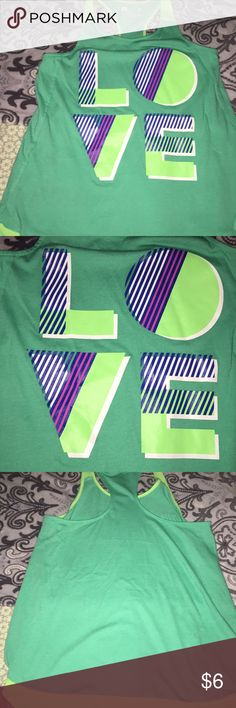 Xersion Girls L O V E TANK TOP NWOT SZ XL 16  <div class=
