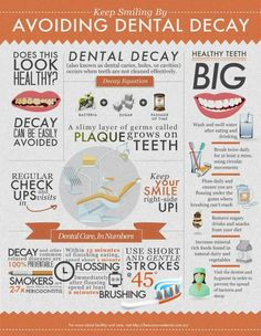 Keep smiling by avoiding dental decay Infographic Are you looking for a dental assisting study guide? www.DentalAssistantStudy.com