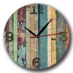 Jam Dinding Motif Vintage Kayu Recycle - Handicraft Wall Clock Diskon 8153e0d961