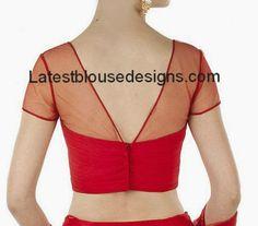 sheer back neck blouse