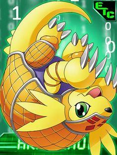 Armadillomon Digimon Collectors Card