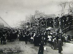 Hull Fair, 1923.  Kingston upon Hull, East Yorkshire, UK.  Posted www.lilywight.com http://lilywight.com/2013/10/01/lily-wights-oktoberfest-hull-fair/