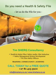 ******🚧🚧🚧****** Health and Safety Implementation is the most effective insurance policy! Let us help you with legal implementation! SAFETY FILES & RISK ASSESSMENTS Safety Audit, Safety Management System, Free Quotes, Health And Safety, Assessment, Let It Be, Business Valuation