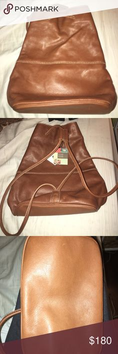 """Fossil """"Reissue Sling Brown"""" Brand new and never used. Tags still attached. Fossil Bags Backpacks"""