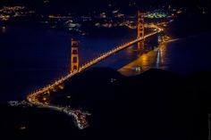 Spectacular Aerial Photos of San Francisco at Night