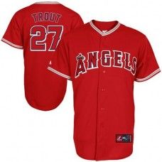 LA Angels of Anaheim #27 Mike Trout Red Replica Baseball Jersey_Mike Trout Baseball Jersey
