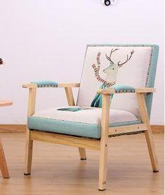 Solid Wood Leisure Sofa Chair. Single Sofa. Personality Sofa.
