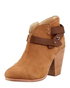 Harrow Nubuck Ankle Boot, Camel by Rag  Bone at Neiman Marcus.