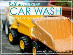 Toddler Car Wash | Summer Fun | Backyard Water Fun