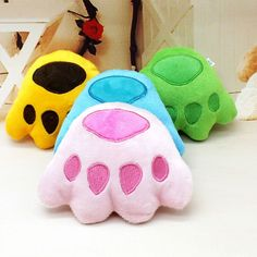 Hot Sale Puppy Dog Bear Paw Shape Pet Squeaky Toys Pet Chew Toy Pets Supplies