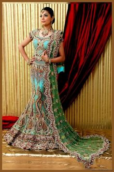 Pakistani Dress for Men and Women Pictures | Beautiful-Heavy-Bridal-Dress-Design-1
