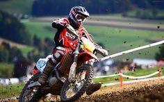 壁紙をダウンロードする モトクロス, スポーツ, レース, バイク