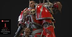Chaos Space Marine 3d printing figurine - Warhammer 40K games. #3dprinting
