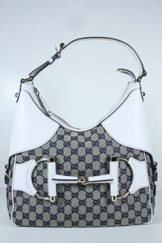 My personal favorite! Gucci Handbags Blue Fabric and White Leather