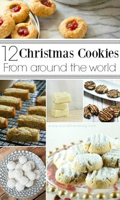 Add a special touch to your cookies this Christmas. 12 Christmas Cookie Recipes from Around the World