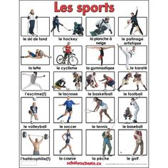 1000 images about french vocab sports on pinterest sports winter activities and french. Black Bedroom Furniture Sets. Home Design Ideas