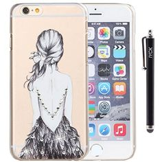 iPhone 6 Case, iPhone 6S Case, iYCK Crystal Diamond Rhinestone Hard Plastic Rubber Snap On Shell Back Skin Case Cover for Apple iPhone 6 / 6S (4.7) - Beautiful Sexy Girls Backside