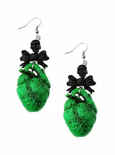 Hot Topic Jewelry | kreepsville green human heart earrings sku 909737 online exclusive $ ...