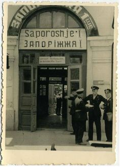 Ukraine, Zaporizhia. Nazi occupation of city, railway station.