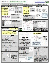 Coordinate Geometry formula page to help you prepare for the ACT ...