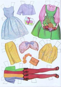 Paper Dolls~Tammy - Bonnie Jones - Picasa Webalbum * 1500 free paper dolls from artist Arielle Gabriel The International Paper Doll Society for Pinterest paper doll pals *