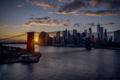 Sunset over the city by Alexander Marte Reyes - The Best Photos and Videos of New York City including the Statue of Liberty, Brooklyn Bridge, Central Park, Empire State Building, Chrysler Building and other popular New York places and attractions.