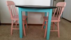 Pink & teal table set