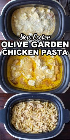 Chicken Pasta Crockpot, Chicken Pasta Dishes, Creamy Italian Chicken, Creamy Chicken Pasta, Creamy Pasta Recipes, Pasta Recipes Crockpot, Chicken Italian Dressing, Olive Garden Italian Dressing, Crockpot Ideas
