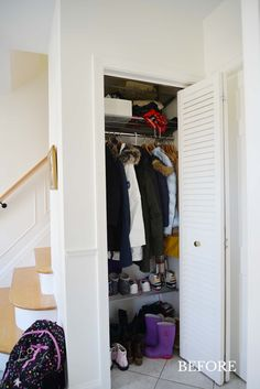 5 Simple Tips for Organizing a Small Front Hall Closet - Rambling Renovators