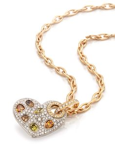 Rosendorff 'Colours Of The Earth Collection' Natural Fancy Coloured Diamond Heart Pendant