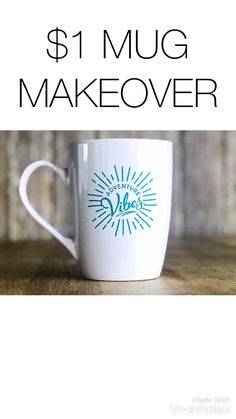 DIY sharpie mugs are an inexpensive and easy gift idea. Best of all, DIY shar. Easy Diy Crafts, Diy Crafts To Sell, Diy Projects To Sell, Dollar Store Crafts, Dollar Stores, Vinyle Cricut, Cricut Vinyl, Diy Becher, Diy Mugs