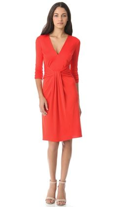 ISSA Knot Front Dress - strong contender in the hunt for the perfect red dress