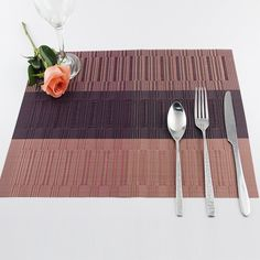 4 Pcs/set Placemat Modern PVC Table Mats For Dining Absorption Waterproof Coasters Insulation Table Cloth Pad Non-slip