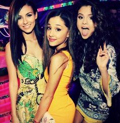 Ariana Grande, Selena Gomez and Victoria Justice