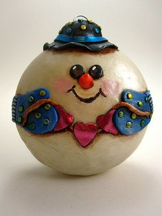 Disco snowman - this is so cool. I love it