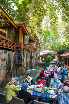 People in Tehran enjoy the good Weather outside of a Cafe. Places To Travel, Places To Visit, Visit Iran, Iran Travel, Tehran Iran, Persian Culture, Destin Florida, Luxury Travel, Santorini