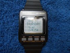 Vintage Seiko UC-3000 LCD Computer Mens' Watch ONLY no keyboard Excellent Cond! | eBay